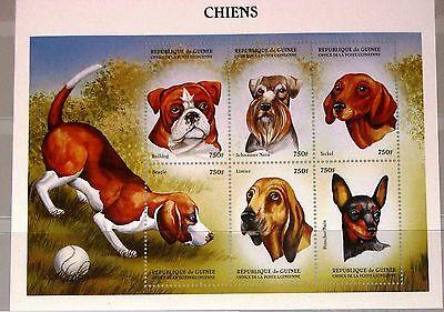 GUINEA 1999 KLB 2328 33 MS 1519 DOGS HUNDE DOMESTIC ANIMALS FAUNA TIERE MNH