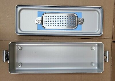 Case Medical Steritite Narrow Sterilization Container With Lid 18.5x6 X3 Sc03n
