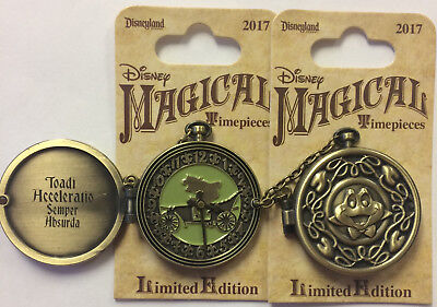 Disneyland 2017 Mr. Toad's Wild Ride Pocket Watch Magical Timepieces LE Pin