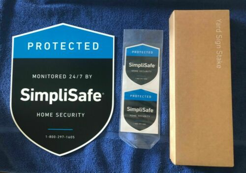 🔥 1 SimpliSafe Plastic Yard Sign with 2 Window Decals and Yard Sign Stakes