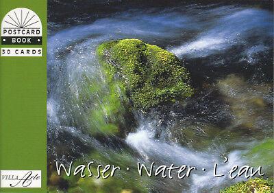 Postkartenbuch Wasser 30 Foto Postkarten NEU!