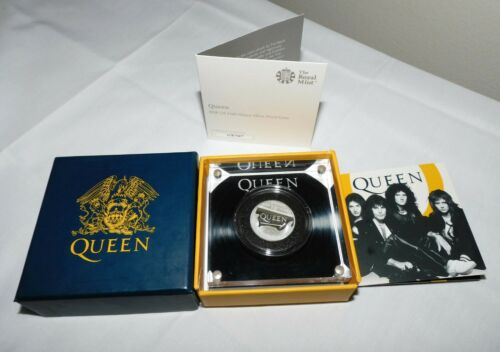 Queen 2020 UK Half-Ounce 1/2 oz Silver Proof Coin w/Display Case & COA