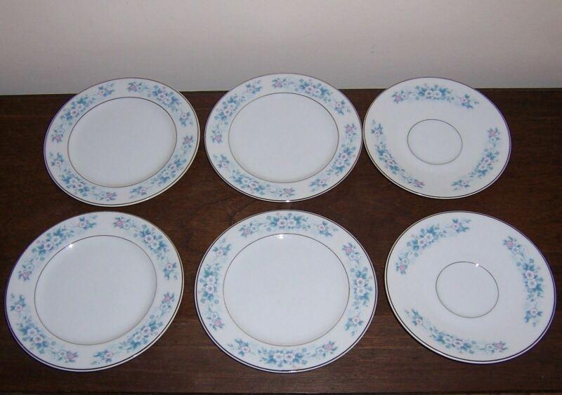 4 Bread / Dessert Plate + 2 Saucers - CARLA 506 by CARLTON JAPAN