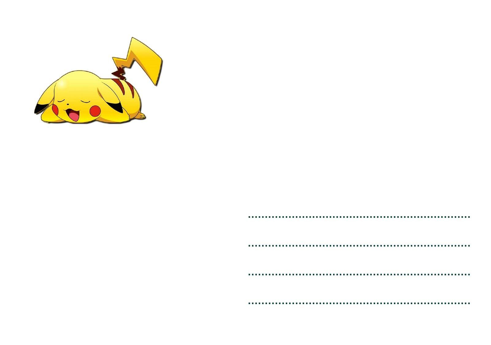 5 ou 12 cartes invitation anniversaire pokemon ref 291 eur 2 99 picclick fr. Black Bedroom Furniture Sets. Home Design Ideas