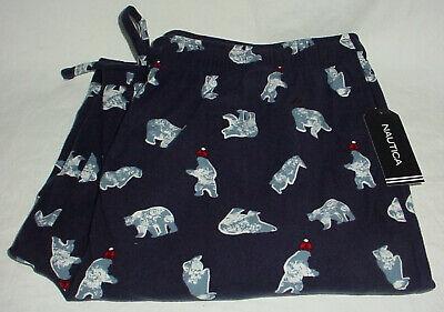 Mens Nautica Pajama Lounge Pants Navy Blue Polar Bear M New Medium Sleepwear