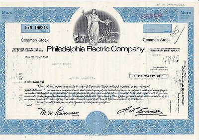 Philadelphia Electric Co. 1982 blau