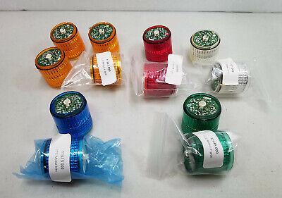 (Lot of 12) PatLite LCE Stack Lights, 40mm, 24V, Red, White, Blue, Amber, Green