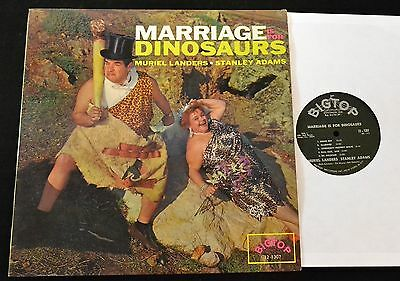 Marriage is for Dinosaurs OBSCURE COMEDY Big Top LP Muriel Landers Stanley Adams