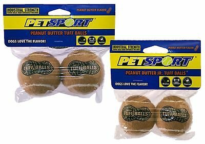 Petsport USA Peanut Butter Junior Tuff Balls 2 Pack 1.8 inch