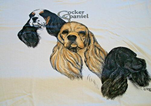 """Cocker Spaniel Sweatshirt  """" White """" LG ( 42 ~ 44 )"""
