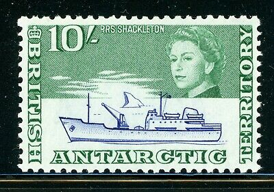 British Antarctic Territory MH: Scott #14 10Sh QEII RPS Shackleton SHIP CV$42+