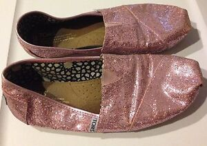 Size 8.5 Sparkly Pink TOMS