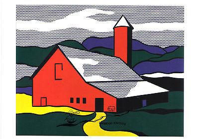 Roy Lichtenstein Kunstkarte// Postcard Waldszene mit Tempel