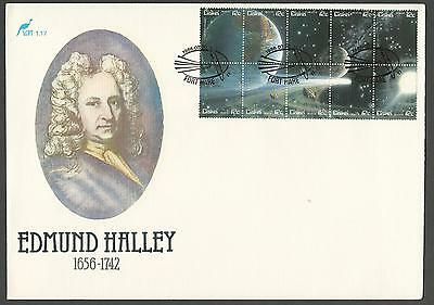 1986 CISKEI SC 89 HALLEY'S COMET SOUVENIR SHEET CACHETED UNADDRESSED FDC