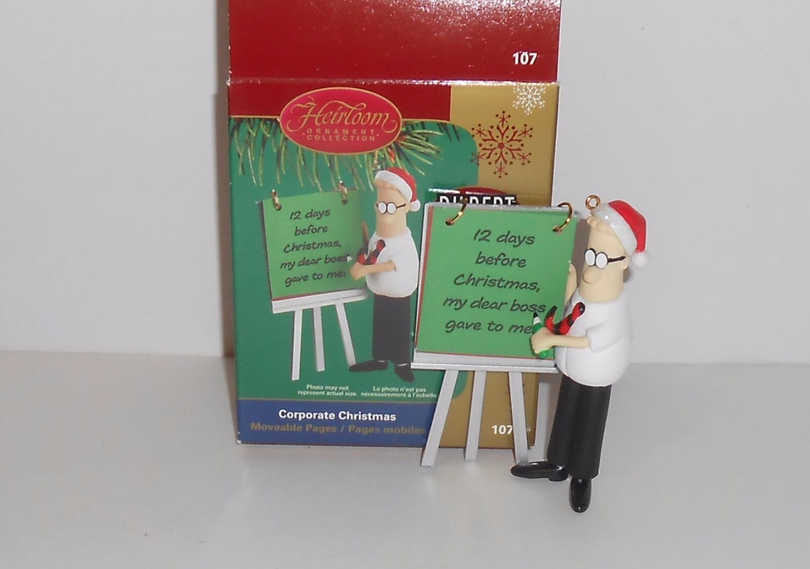 New Heirloom Dilbert Corporate Christmas Ornament