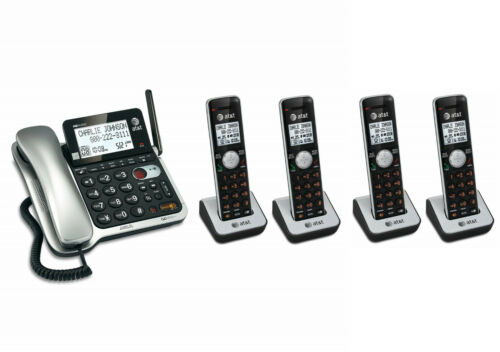 AT&T Corded Cordless Walkie-Talkie DECT 6.0 Cordless Phone System 5 Handsets