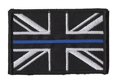 Thin Blue Line - Police - Union Jack Velcro backed patch UK Badge