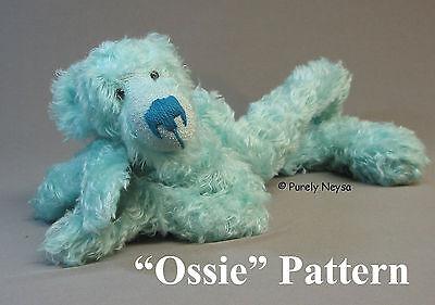 "Mohair/Plush ""Ossie"" Teddy Bear PATTERN by Neysa A. Phillippi of Purely Neysa"