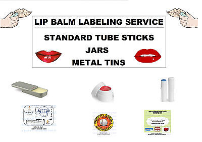 Lip Balm Labels - LIP BALM LABEL PRINTING SERVICE. SIMPLE DESIGNS. WE DESIGN THE LABELS. US SELLER