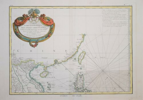 EAST INDIES - FOUR SHEET WALL MAP OF THE EAST INDIES, PUBLISHED BY LATTRE, 1772.