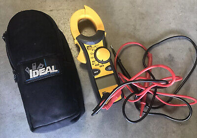 Ideal Electrical 61-744 Clamp Voltage Ac Clamp Meter 600 Amp With Leads