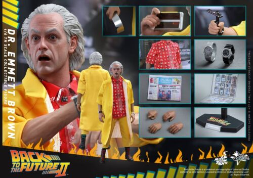 Hot Toys MMS380 Back to the Future Doc Dr Emmett Brown Christopher Lloyd 1//6