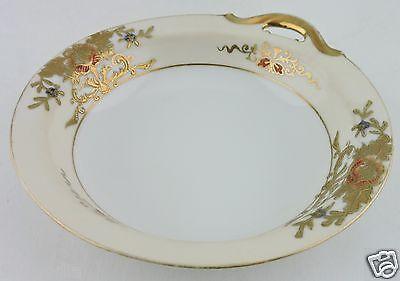 "VINTAGE Noritake 42200 Bon""bon Small Bowl Enameled Flowers Gold Trimmed"