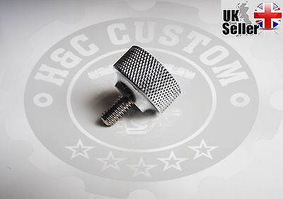 """1/4""""-20 thread Knurled Seat Bolt Screw QUALITY Thumbscrew For Harley Davidson"""