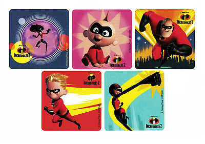 (15 Disney Incredibles 2 Movie Stickers Kid Birthday Party Goody Loot Bag Favor)