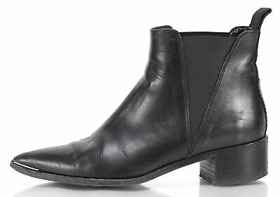 ACNE STUDIOS Black Leather Ankle Boots 593203