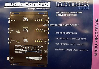 NEW Audio Control Matrix Plus, 6-Channel Line Driver (BLACK)
