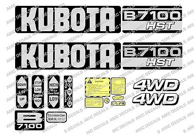 Ubota B7100 Hst Compact Tractor Decal Sticker Set