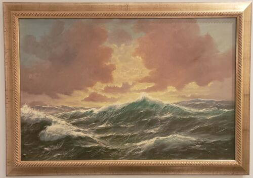 Sea Scape Oil on Canvas Signed Alfred Gabali (1886-1963)