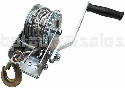 600lb Steel Cable Hand Winch Crank Gear Winch ATV Boat Trailer Heavy Duty NEW