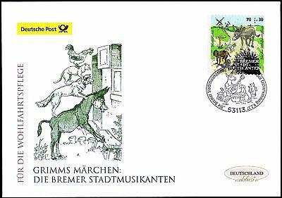 BRD 2017: Bremer Stadtmusikanten! Post-FDC der selbstklebenden Nr. 3287! 1709