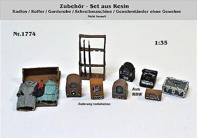 Neu Nr.1774 Zubehör-Set 1:35 Resin für Diorama