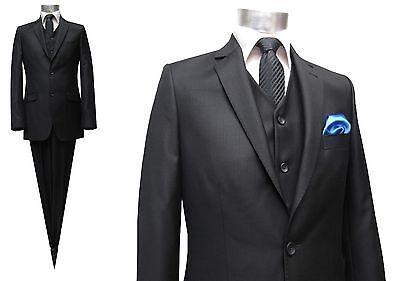 Herren Anzug+Weste Muga*137*Gr.98 Schwarz