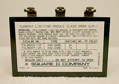Square D 9999 Clm-1 Current Limiting Module Xlnt 9999-clm-1
