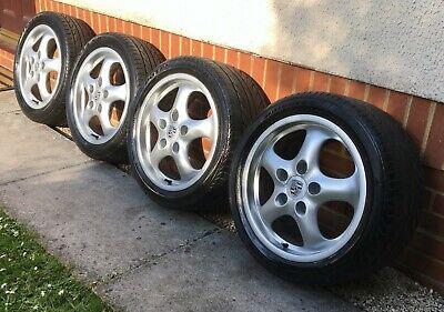 "Genuine Porsche 993 911 Cup 2  7J/9J x17"" Alloy Wheels & Bridgestone Tyres"
