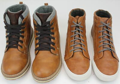 Kid's Old Navy High Top Casual Shoes Brown Size 3 Lot of 2