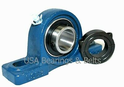 Ucp201-8 12 Inch Pillow Block Bearing And Double Split Shaft Collar Solid Foot