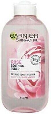 Garnier Natural Rose Water Toner Sensitive Skin 200ml UK FREE DELIVERY