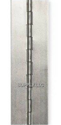"""4"""" x 72"""" PIANO HINGE No Holes Weldable Steel Finish Continuous Nonremovable Pin"""