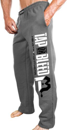 Monsta Clothing Men's Open Bottom Tap or Blead Sweatpants Fo