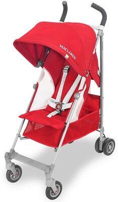 Maclaren Baby Globetrotter Lightweight Reclining Single Stroller Cardinal - White Lightweight Stroller