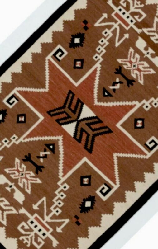 Navajo Style Rug Native American Indian Style Blanket Two Grey Hills Style Rug