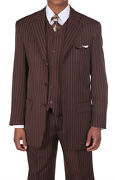 Mens White Pinstriped Suit
