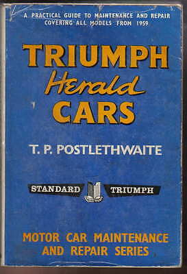 Triumph Herald 1959-62 948cc 1200cc S Coupe Convertible Pearson Owners Handbook
