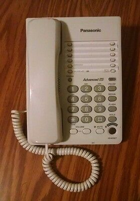 Panasonic Kx-ts105w White Single Line Analog Corded Desk Phone Advanced Its