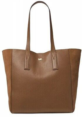 New michael kors Junie Tote bag leather suede X Large leather bag caramel gold Extra Large Caramel
